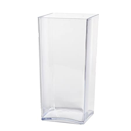 Clear Acrylic Cube Vase Hard Wearing Lightweight Durable Plastic