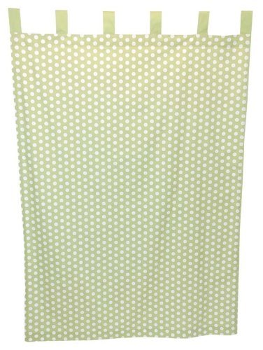 Tadpoles Dot Curtain Panels, Set of 2, Green