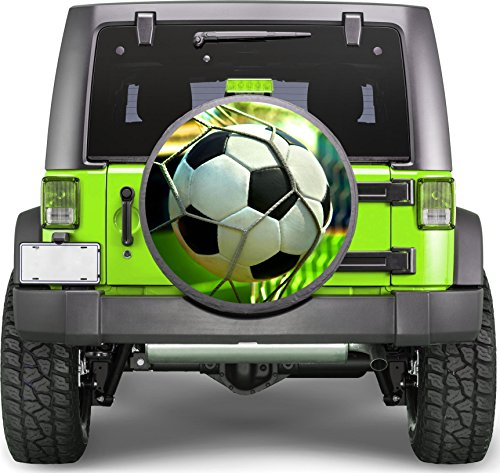 Soccer Ball Gates Sticker Full Color Spare Tire Cover Decal, Sticker Wheel Cover gc1774