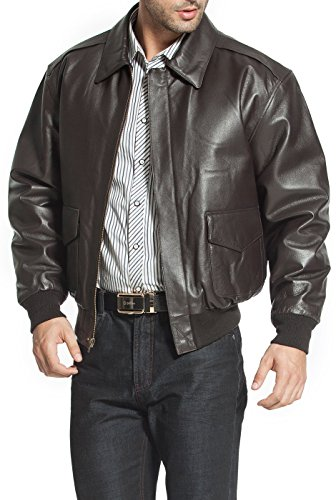 Landing Leathers Men's Air Force A-2 Flight Leather Bomber Jacket ...