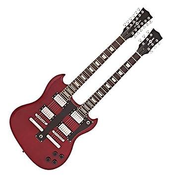 Guitarra Brooklyn de Doble Mástil de Gear4music - Rojo: Amazon.es: Instrumentos musicales