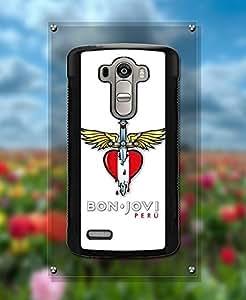 Band-Bon Jovi Logo LG G4 Funda Case - Tough Funda Case & Cover {Dust Proof} +{Anti Scratch} Unique Pattern Ultra Slim Funda Case for LG G4