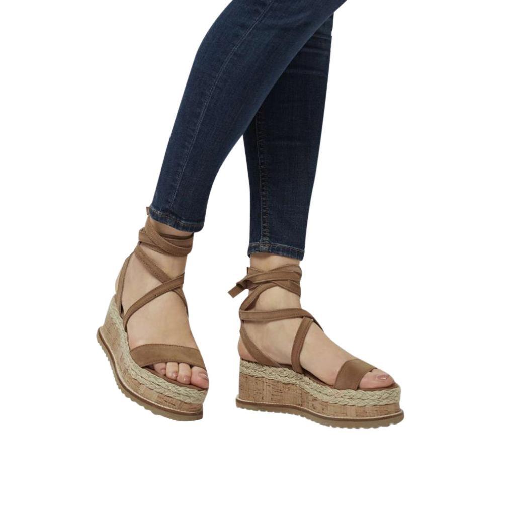 Feixiang _Zapatos zapatos de mujer plataforma romana sandalias de cuña impermeables de fondo grueso feiXIANG: Amazon.es: Deportes y aire libre