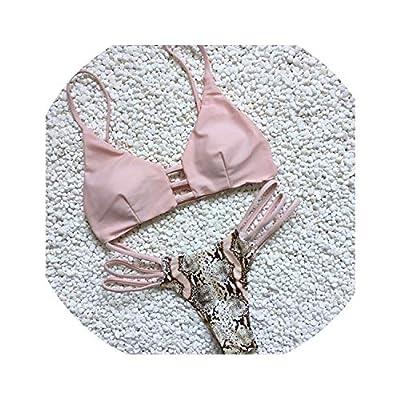 FJ-Direct Women Bikini Set Bathing Suit Bandage Push-Up Padded Swimsuit Beachwear