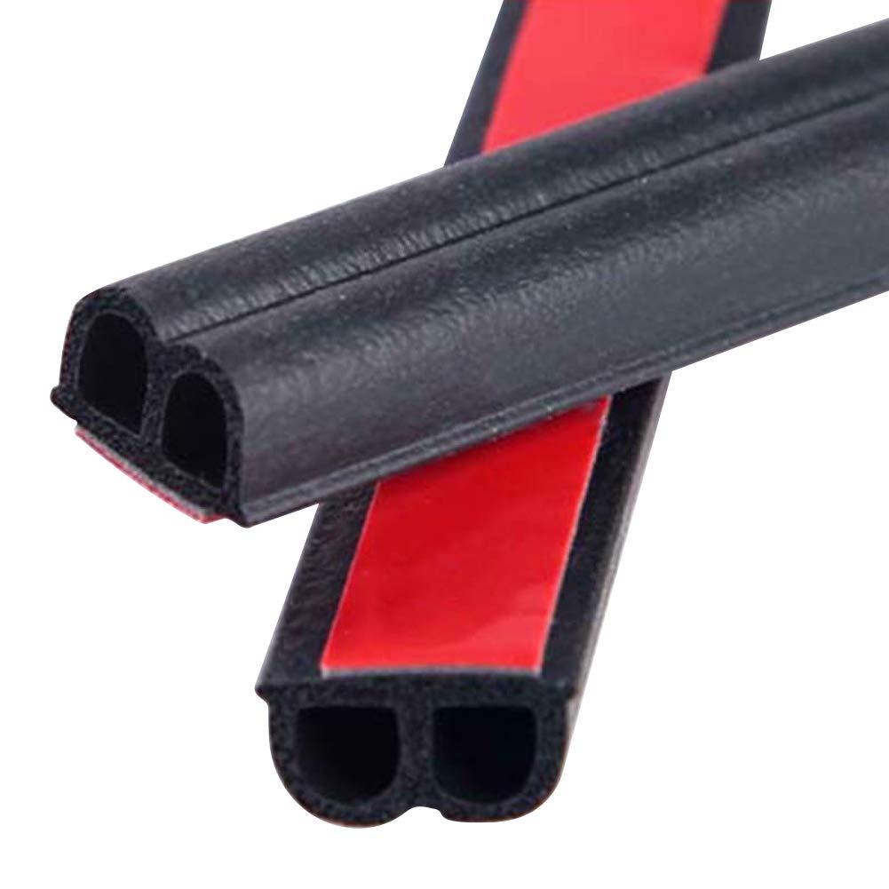 BonTime Autot/ür-Dichtungsstreifen passend f/ür die meisten Autos 20 m B-Form Dichtungsstreifen aus Gummi selbstklebend Kantenschutz f/ür Autot/ür