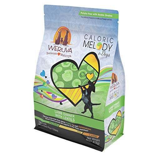 Weruva Caloric Melody, Lamb Dinner with Lentils Dry Dog Food, 4lb Resealable Bag For Sale