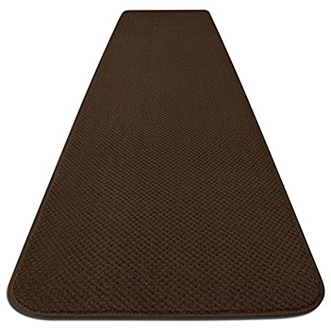 Skid-resistant Carpet Runner - Chocolate Brown - 6 Ft. X 27 In. - Many Other Sizes to Choose From (Carpet Washable)