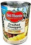 Del Monte CRUSHED PINEAPPLE in 100% Pineapple Juice 20oz (3 Pack)