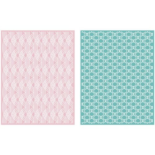 QUICKUTZ Lifestyle Crafts Lattice 2-Pack Embossing Folder for Scrapbooking