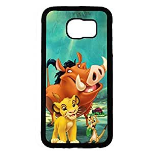 Disney The Lion King Samsung Galaxy S6 Phone Case The Lion King Phone Case Fashionable Black Phone Case Samsung Galaxy S6 Classic Phone Cover 208