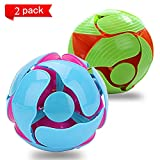 Kingtree Switch Pitch Ball, Throwing Discoloration Balls Magic Telescopic Color Changing Ball Set Children Kids Teens Adults, Interactive 3D Toy Colors Flipping, Pack of 2