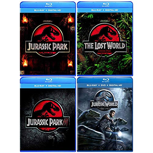 Jurassic Park: Blu-ray Collection (Complete Original Movie Trilogy 1-3 + Jurassic World) (Jurassic Park Blu Ray Set)