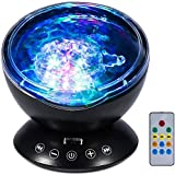 ANEAR Ocean Wave Projector, Baby Night Light Remote Control LED Projector Lamp,7 Color Changing Music Player Light Show…