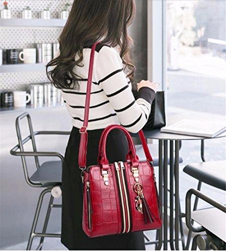 Mano a Bag Rojo Crossbody Bolso CCZUIML de Hecho Mano rojo qpAwYStP
