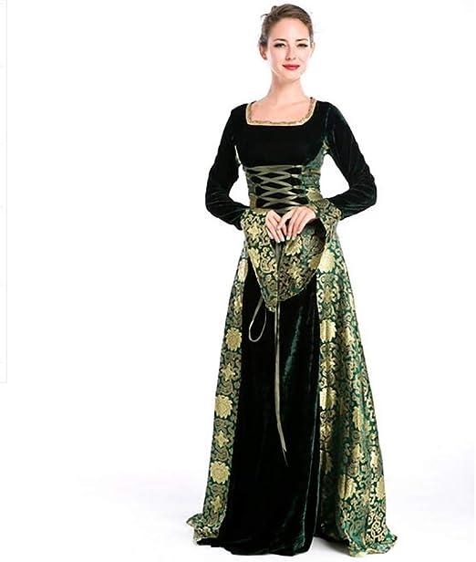 SHANGLY Mujeres Disfraz Medieval Vestido De Princesa De Corte ...