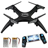 Image of FPV Version Rc Drone with HD Live Video Camera, Quadcopter Headless Rotation Mode Remote Control DroneHelicopter with 2 Battery and 360 Flip Stunt, 10-12 Mins Flying Time Drones for Beginners Racing