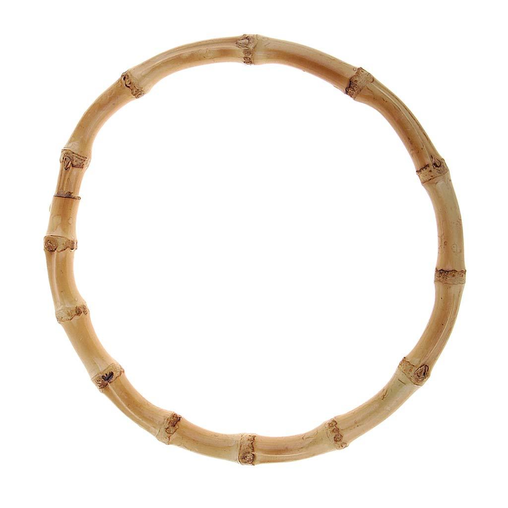 chiwanji 15 cm Runde DIY Bambusgriffe Bambus-Henkel Taschengriff Taschenhenkel Griffe f/ür Taschen Handtasche Einkaufstasche Holzkiste