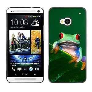 YOYO Slim PC / Aluminium Case Cover Armor Shell Portection //Cool Happy Tree Frog //HTC One M7 wangjiang maoyi