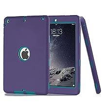 iPad 5 Case, iPad Air Case, Vivi Full-body Heavy Duty Beetle Defense High Impact Resistant Hybrid 3 Layer [Silicone&PC] Combo Case For Apple iPad 5(iPad Air) (purple)