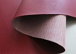 Funda de piel sintética resistente al agua al aire libre de la piel de barco de PVC BRONCOW de patrones de colour burdeos