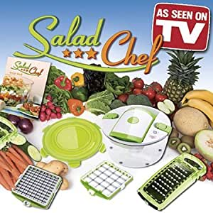 6 Piece Salad Chef Set - As Seen on TV product - Fastest Salad Making System in the World