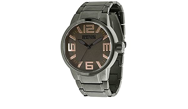 Amazon.com: Kenneth Cole Reaction Brass - Gunmetal-tone Mens watch #RK3238: Watches