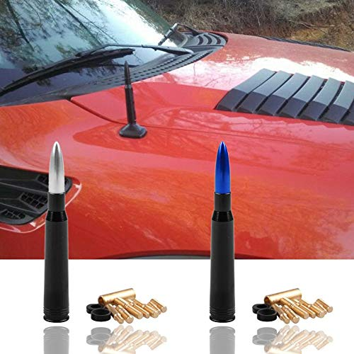 Blue Car Modified Roof Antenna Modified Bullet Antenna Off-Road Vehicle Antenna