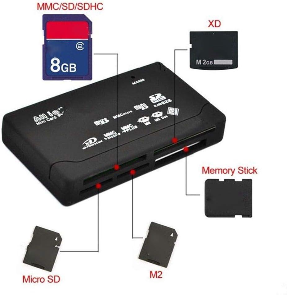 LEVEL GREATodo Lector de Tarjetas en un Puerto USB 2.0 Tarjeta de la Ayuda TF Adaptador del Lector CF SD SD SDHC MMC MS XD