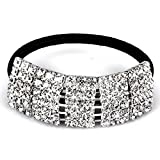 Designer Fashion Elastic Rhinestone Hairtie Ponytail Holder Headband Jewelry Accessories for Women Girls Hair Band