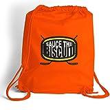 Sauce the Biscuit Cinch Sack   Hockey Bags by ChalkTalk SPORTS   Orange