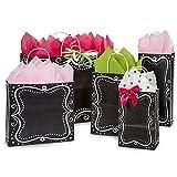 Chalkboard Border Paper Shopping Bag Assortment - 250 Pack