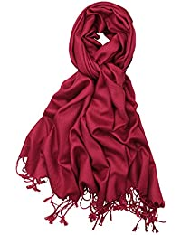 Soft Silky Solid Pashmina Shawl Wrap Scarf for Wedding Bridesmaid Evening Dress