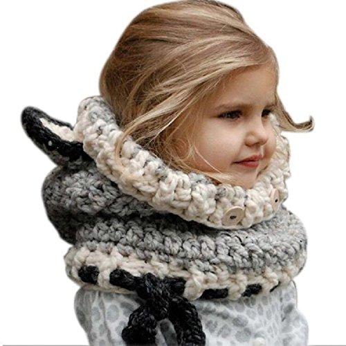 Demarkt/® Knit Crotch Beanie Baby Girls Boys Hats Earflap Caps Scarf Set
