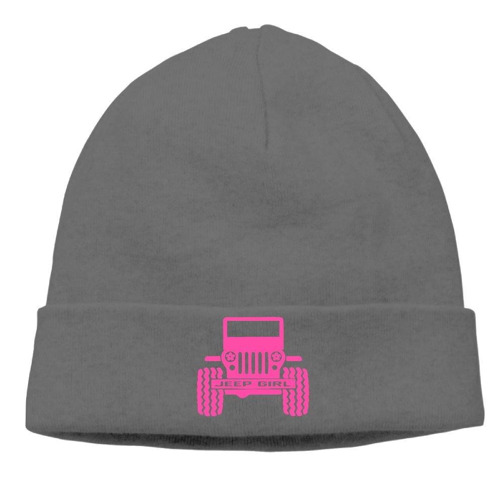 Jeep Girl Knit Hats For Women & Men Winter Warm Wool Baggy Skull Hat