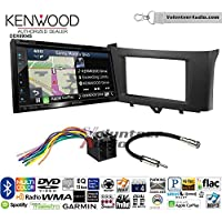 Volunteer Audio Kenwood Excelon DNX694S Double Din Radio Install Kit with GPS Navigation System Android Auto Apple CarPlay Fits 2011-2014 Smart Fortwo