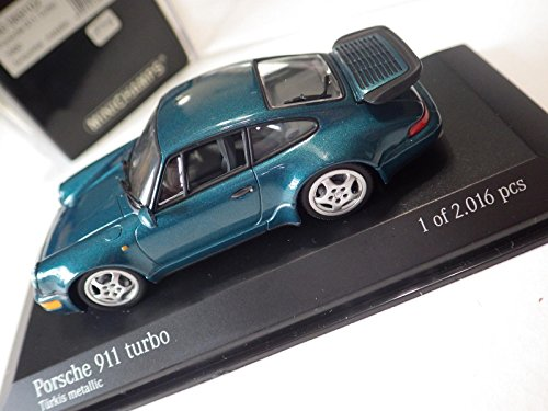 Minichamps Paul's Model Art Metallic Turquoise Porsche 911 Turbo Coupe 1990 -