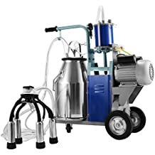 Mophorn Electric Milking Machine 25L Bucket Milking Machine 500W Stainless Steel Milking Machine for Cows (25L)