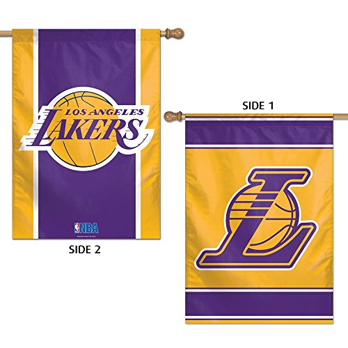 NBA Los Angeles Lakers 2 Sided Vertical Flag, 28 x 40
