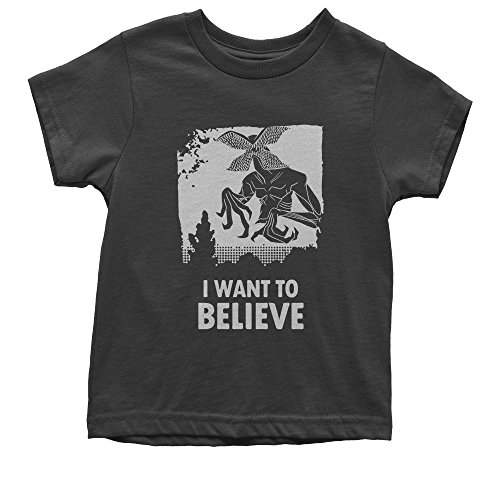 Expression Tees Youth Demogorgon I Want To Believe T-Shirt Medium Black (Medium T-shirt Youth Only)
