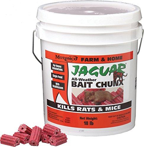 Motomco Jaguar Mouse and Rat Bait Chunx/Pail, -