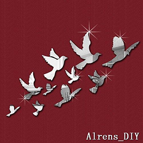 10pcs Flying Birds Mirror