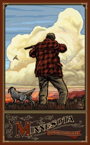 Northwest Art Mall Minnesota Pheasant Hunter Artwork by Paul A. Lanquist, 11-Inch by - Mall Pheasant