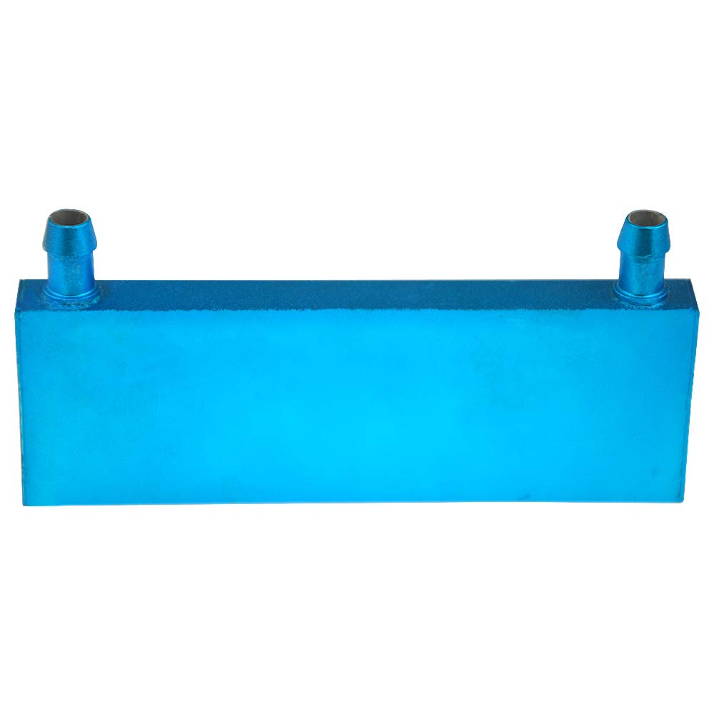 BXQINLENX Aluminum Water Cooling Block for CPU Graphics Radiator Heatsink 40x 120X12mm Blue