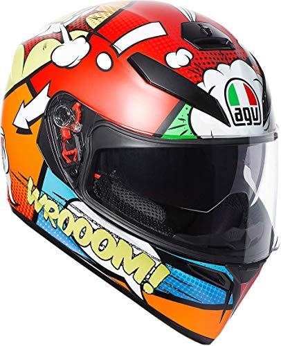 AGV Unisex-Adult Full Face K-3 SV Balloon Motorcycle Helmet (Multi, Medium/Small)