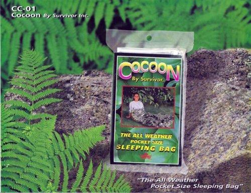 Survivor Industries' Cocoon Emergency Mylar Survival Sleeping Bags - Pack of 4 Bags. CC-01