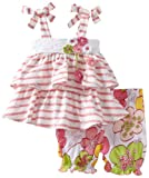 Bonne Baby-girls Newborn Sleeveless Tie Strap Top With Bloomer