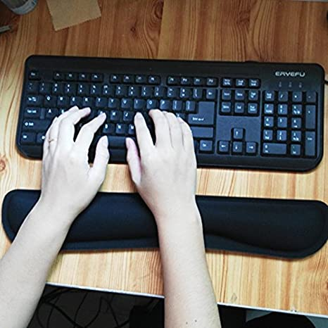 Black Ergonomic Memory Foam Wrist Support Comfort Pad for Computer Laptop Office Typist AILRINNI Gel Gaming Mouse Wrist Rest Pad Mat Mouse Mat