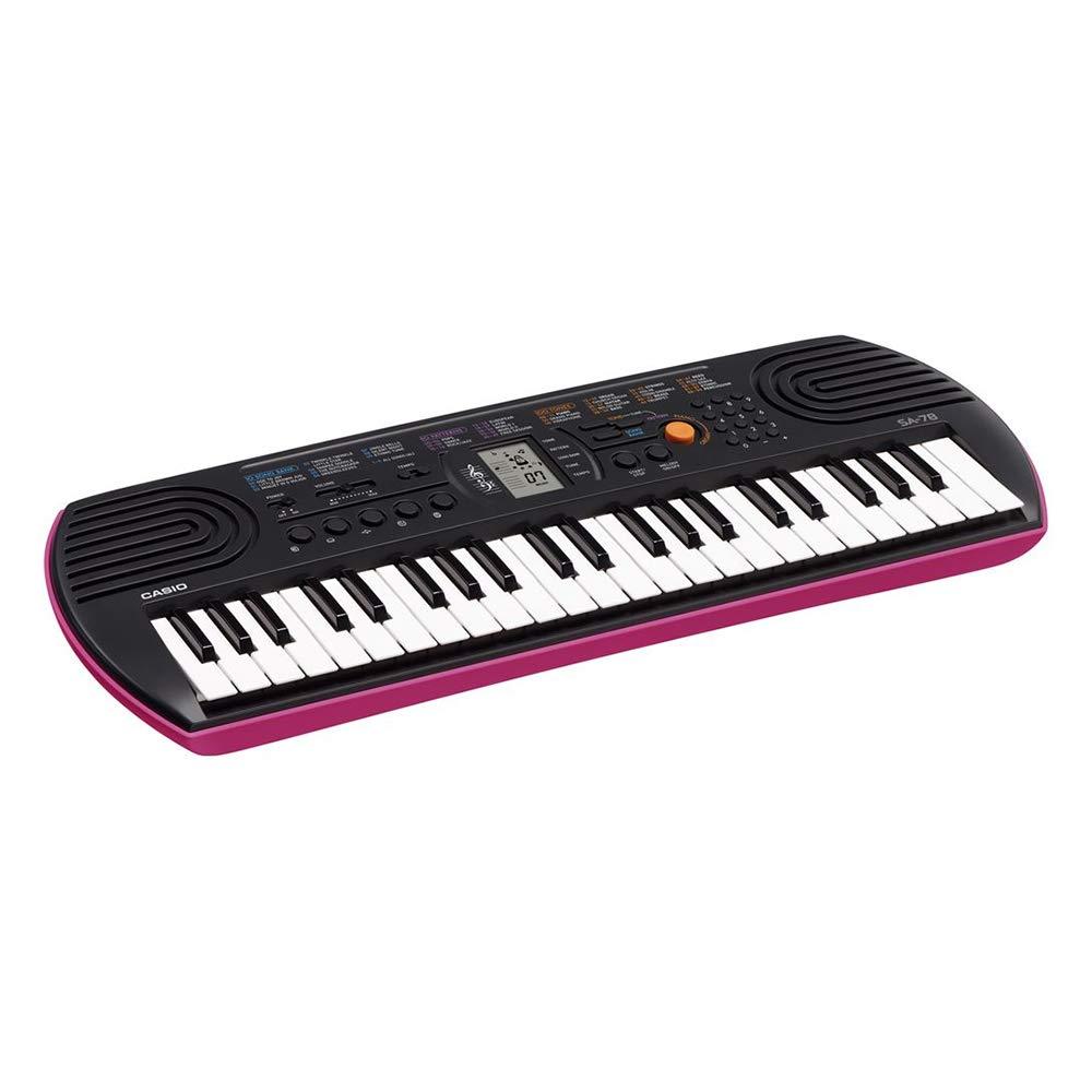 """con 2 maniglie Kit Pianola Tastiera Casio SA 78 Alimentatore e Metodo /""""Suona la Tastiera/"""" fondo Rosa con Borsa Casio"""
