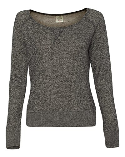 ITC Juniors' Wide-neck Sweater PRM2400 - Blk Hther - Large