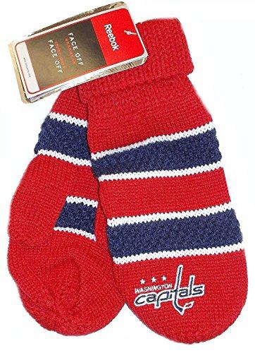 Reebok Womens Mitten - NHL Washington Capitals Knit Reebok Mittens - Women 1 pair -L196W
